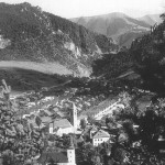 Pohľad na novovybudovanú dedinu po 2. svetovej vojne