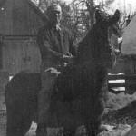 Otec Ondreja Bobáňa na koni