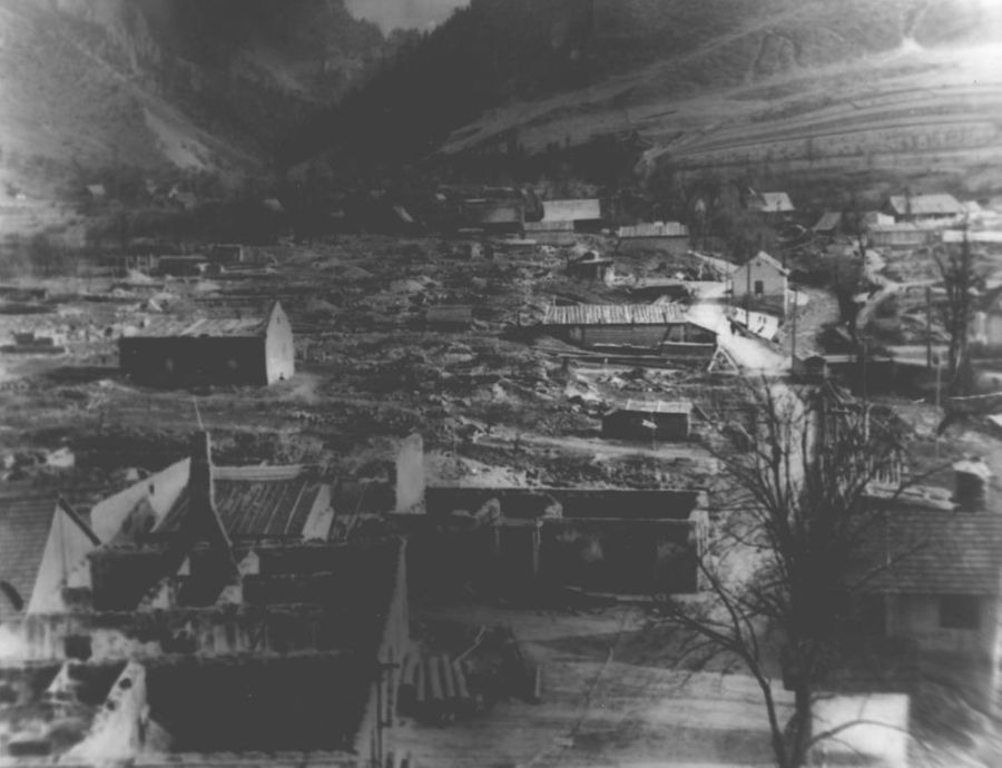 Zničená Terchová po 2. svetovej vojne