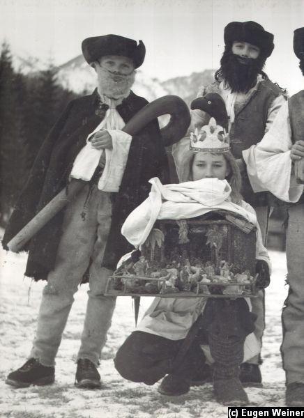 Kráľ a pastieri pri betleheme