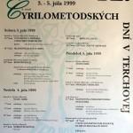 Cyrilometodské dni 1999 - plagát