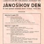 Jánošíkove dni 1974 - plagát