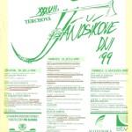 Jánošíkove dni 1999 - plagát