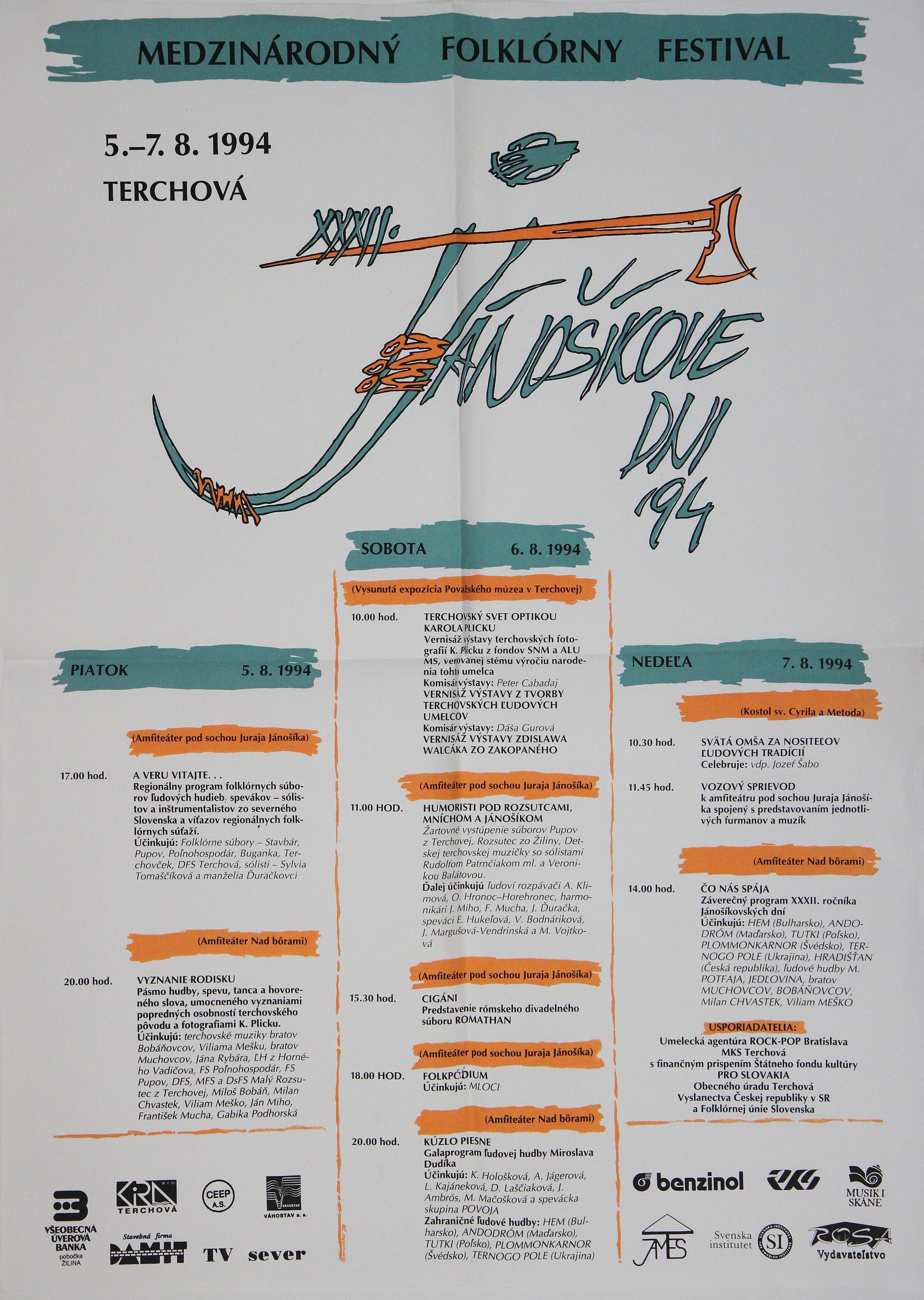 Jánošíkove dni 1994 – plagát