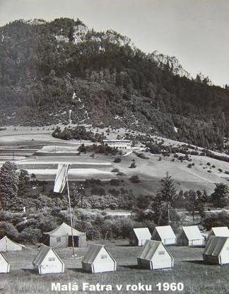 Táborové stany vo Vrátnej v roku 1960